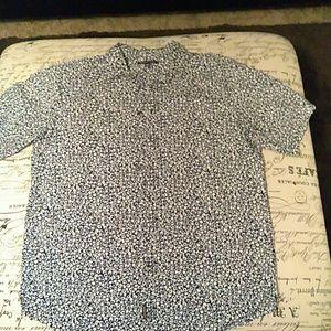 Short Sleeve Michael Kors button down shirt.